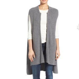 Halogen Knit ZIP Vest -BLACK